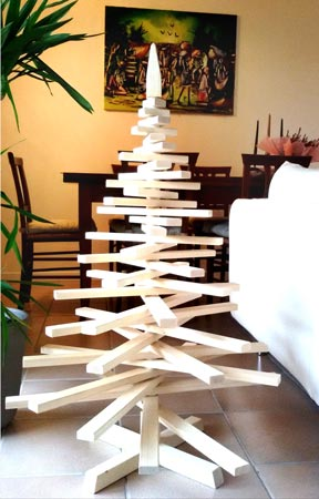 Alberi di Natale in legno un vero albero di Natale costruito a mano!